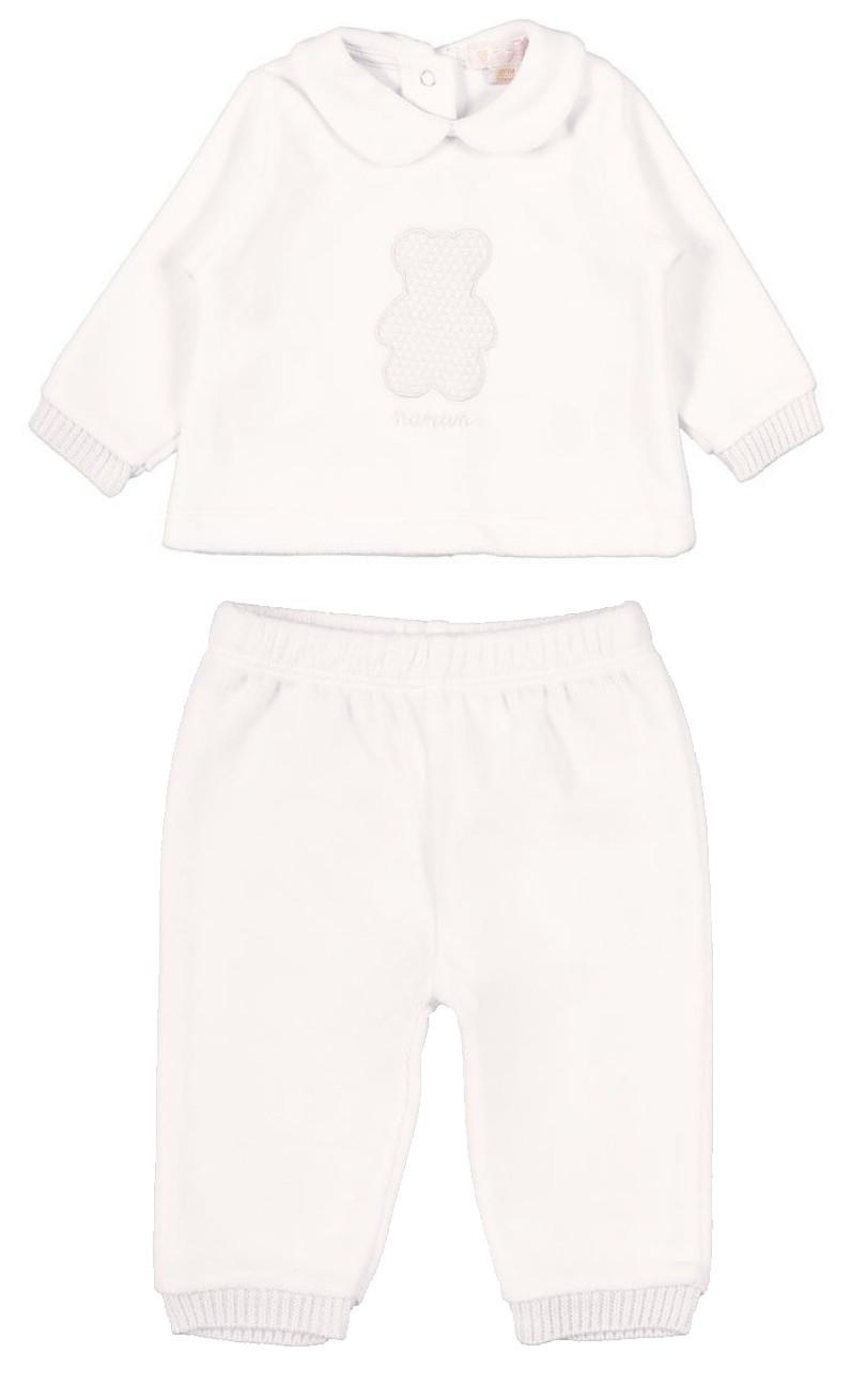 Pyjama 2 pièces avec Ourson - 3 Mois Crème