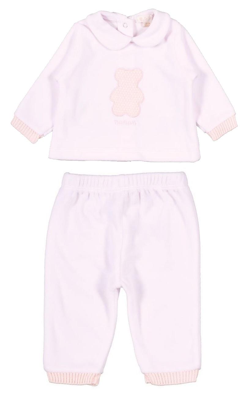 Pyjama 2 pièces avec Ourson - 6 Mois Rose