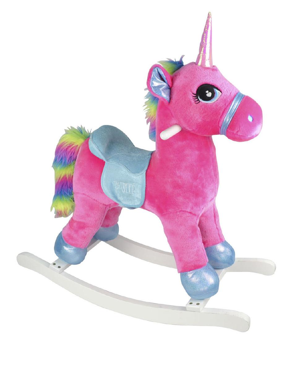 Unicornio de Madera Rosa