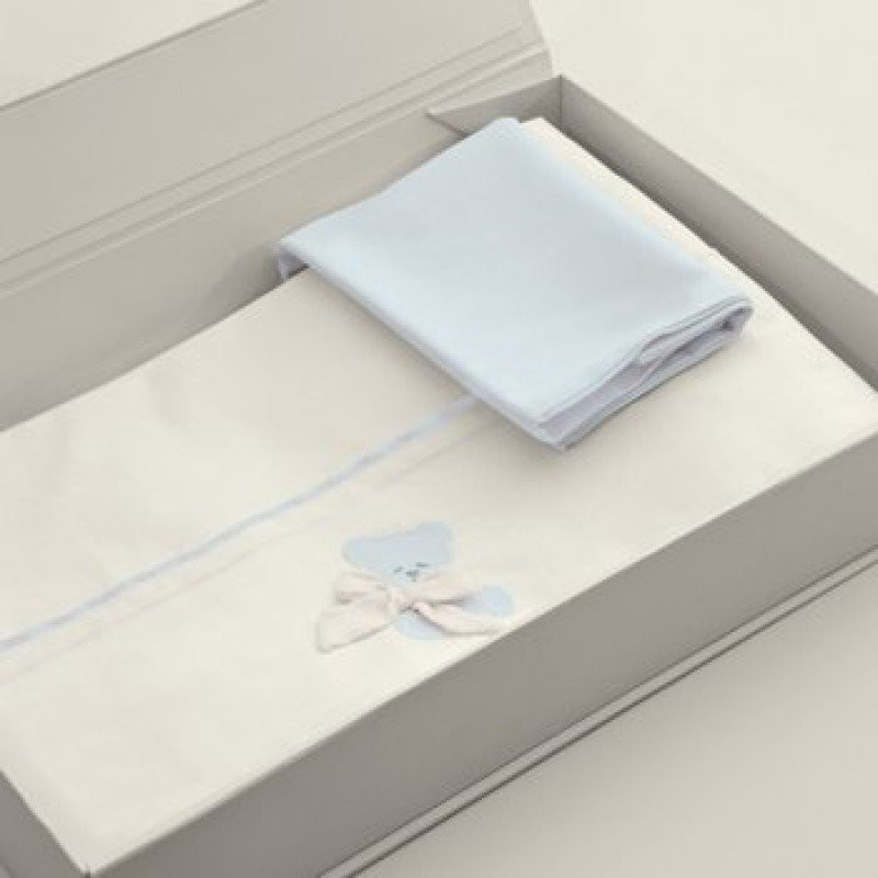 Nanan Set Draps pour Lit bébé Coccolo Bleu