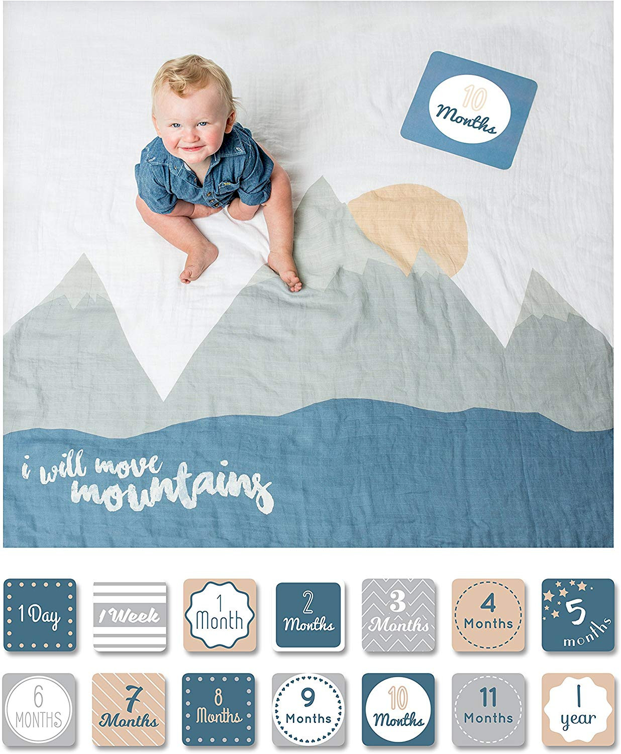 Baby First Year Decke - I Will the Mountains