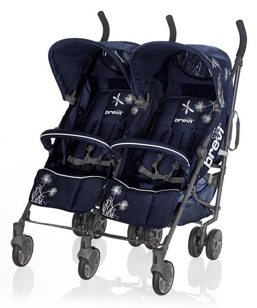 Brevi Zwillingskinderwagen Marathon Blau