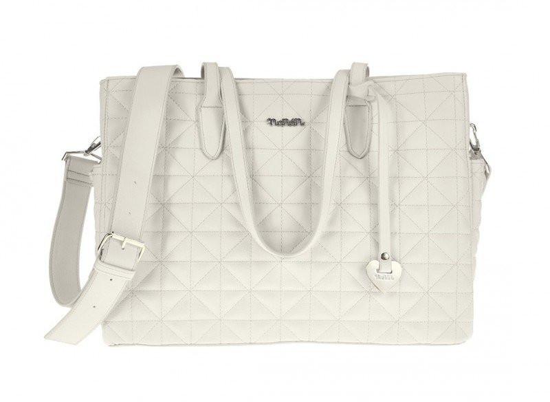Tasche mit Griffen Pastello Weiß