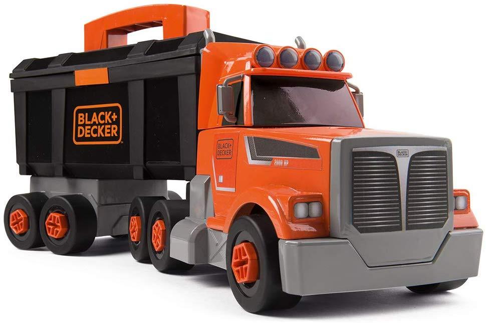 LKW mit Werkzeugkasten Black+Decker