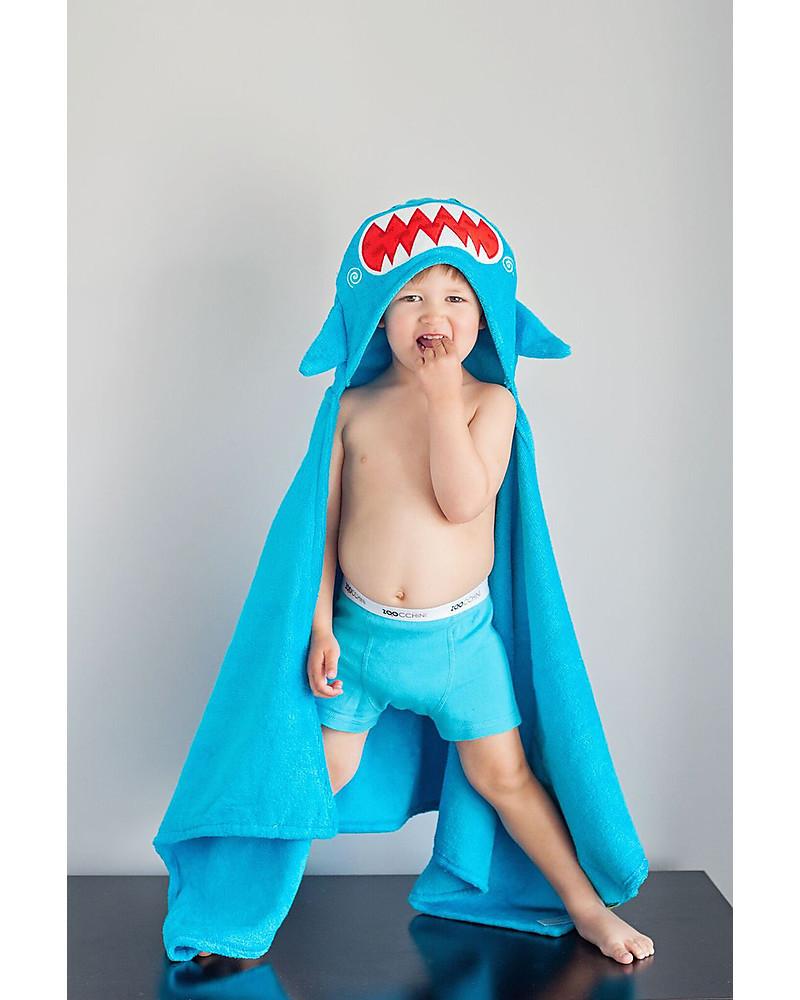 Kapuzenbadetuch Haifisch