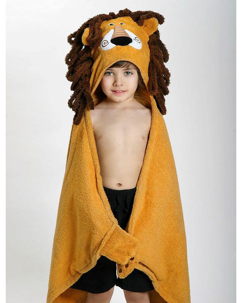 Kapuzenbadetuch Löwe