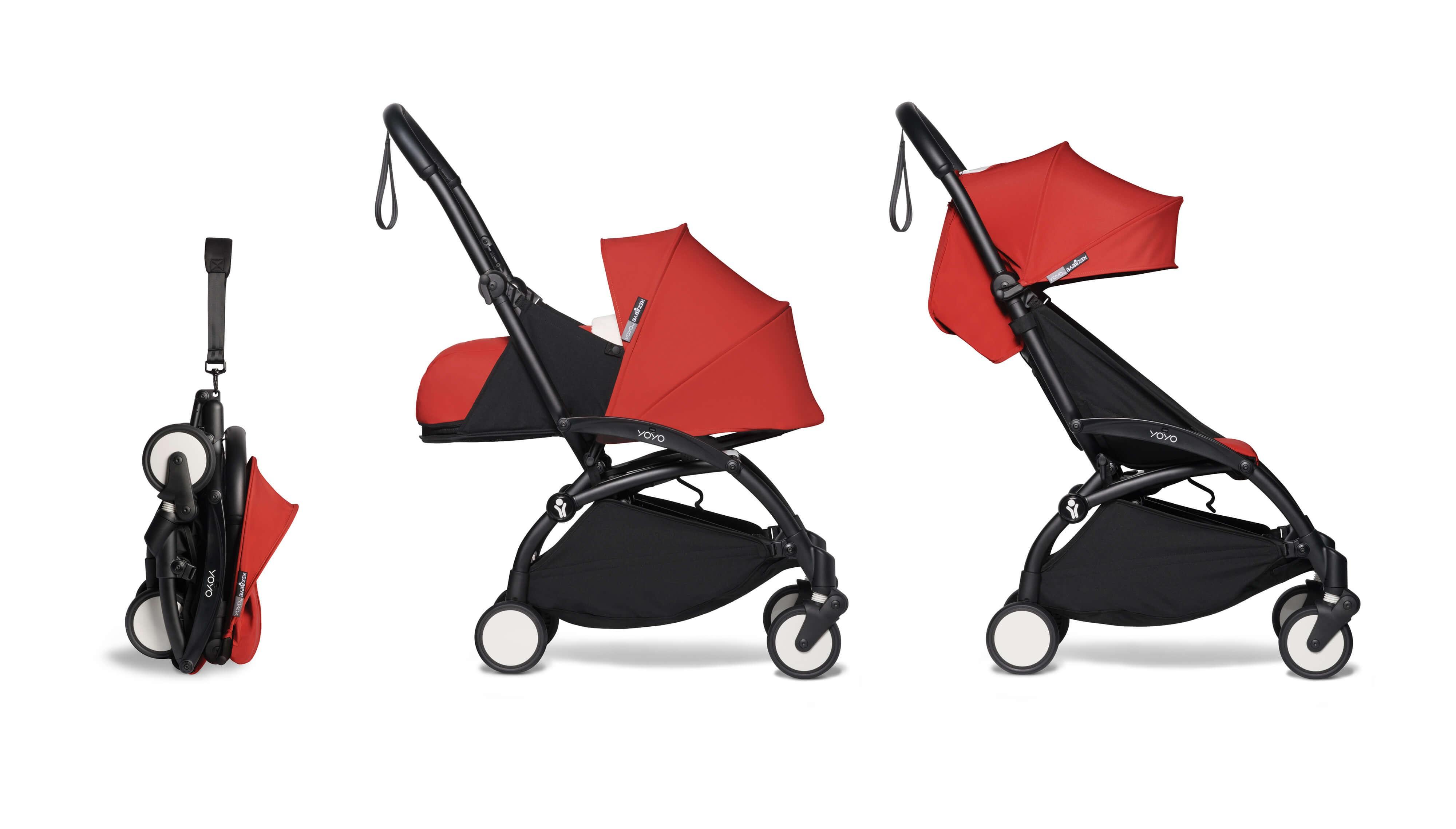 Poussette Duo Babyzen Yoyo² Red - Châssis Black