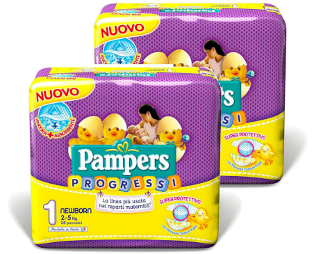 Pampers Couches Progressi - Taille 1