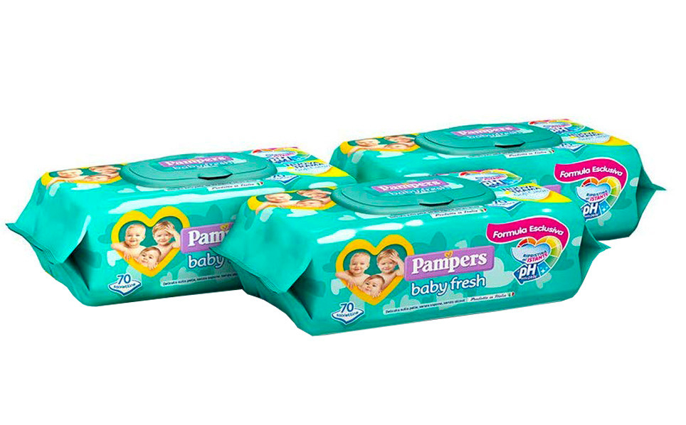 Pack 3 Salviettine Pampers Baby Fresh
