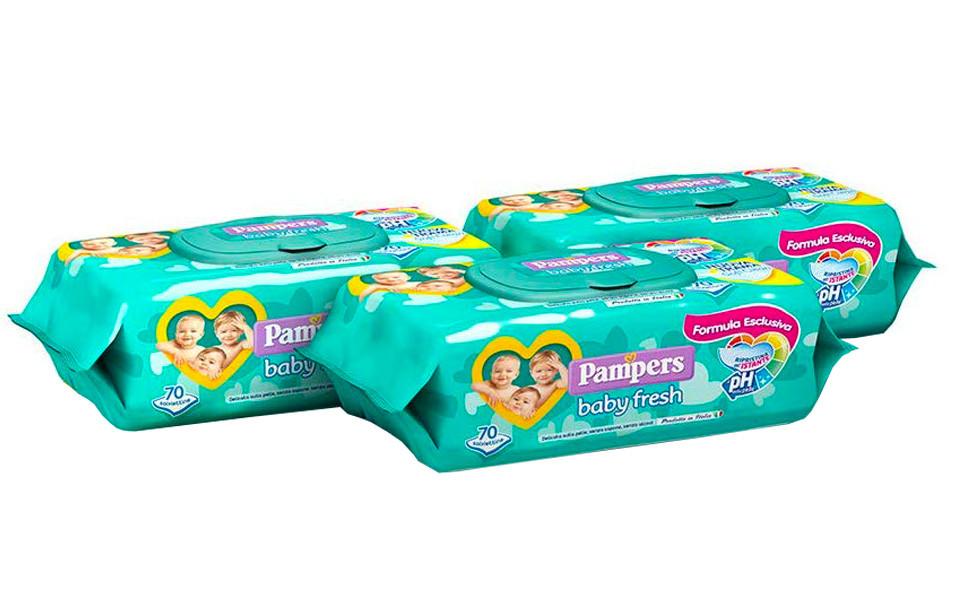 Pack 3 Salviettine Pampers Baby Fresh