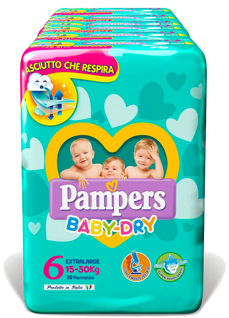 Pannolini Pampers Baby Dry Misura 6 - 150 pezzi