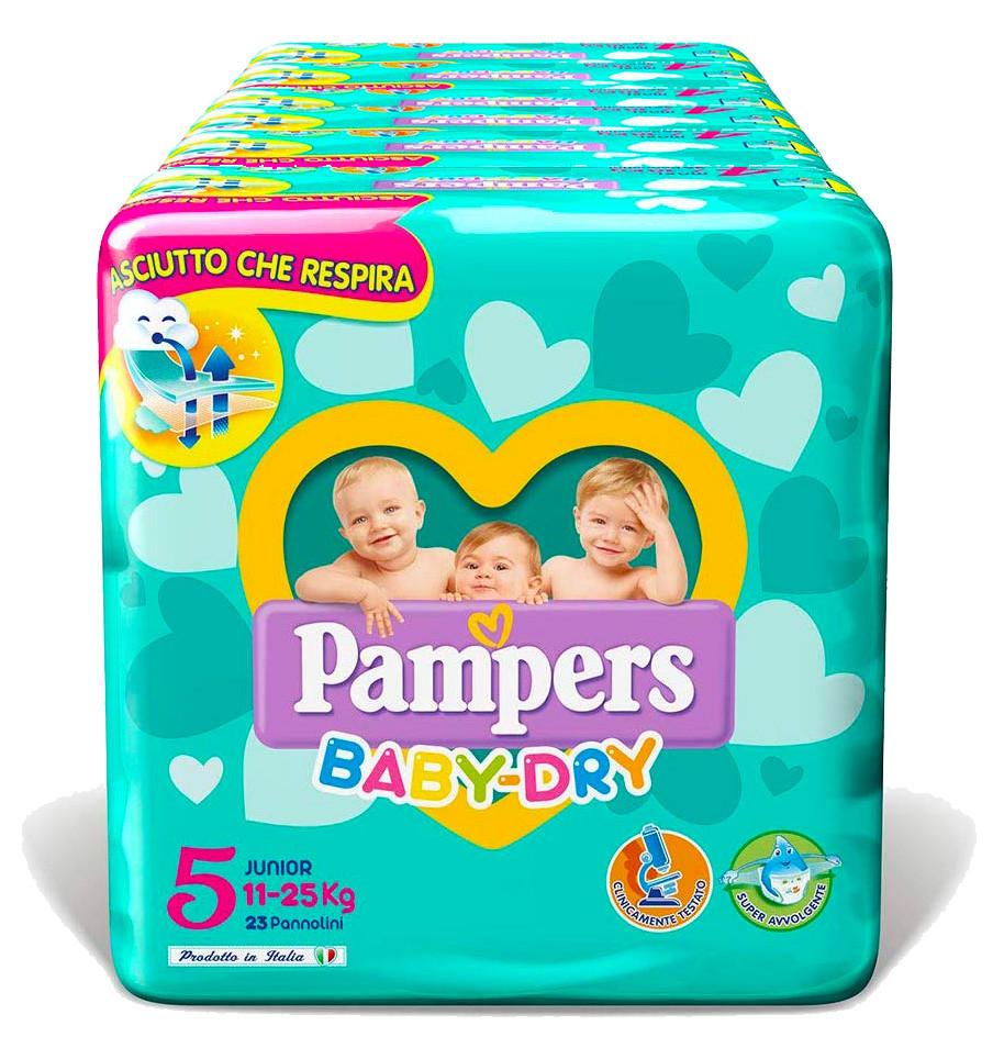 Pannolini Pampers Baby Dry Misura 5 - 136 pannolini