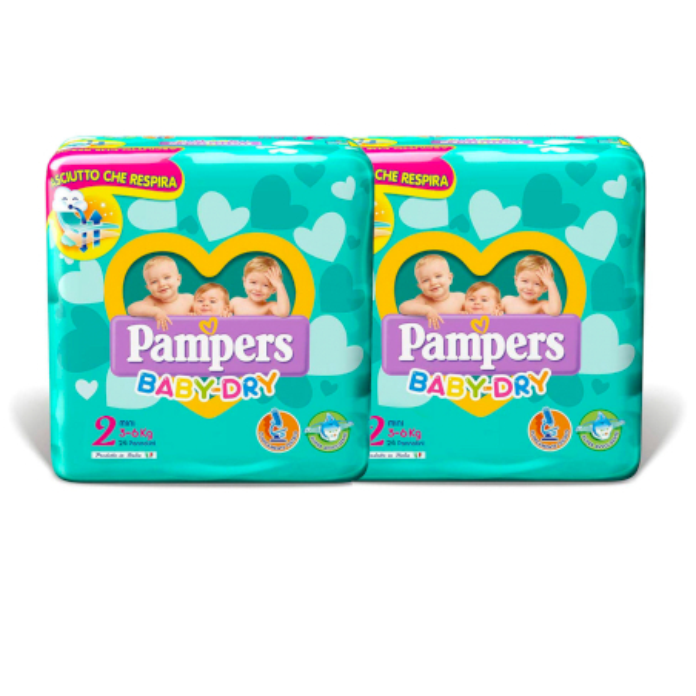 Pannolini Pampers Baby Dry Misura 2 - 240 pezzi