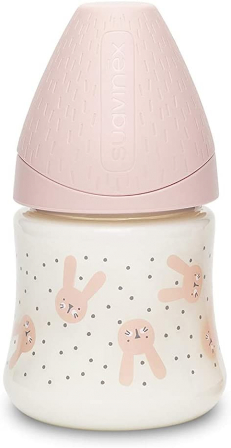 Biberon Hygge Baby Coniglio Pois Rosa - Flusso Lento 150 ml