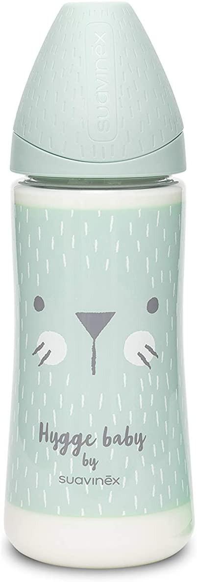 Biberon Hygge Baby - Flux Réglable 240 ml Vert