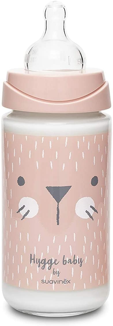Biberon Hygge Baby Coniglio Pois Rosa - 3 Posizioni 240 ml