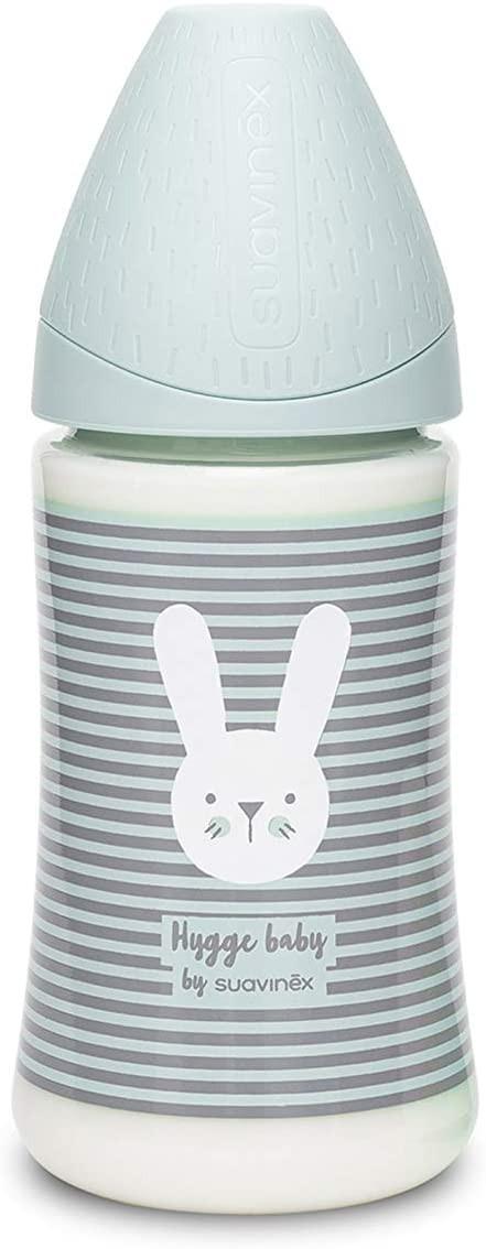 Biberon Hygge Baby Coniglio Righe Verde - 3 Posizioni 270 ml