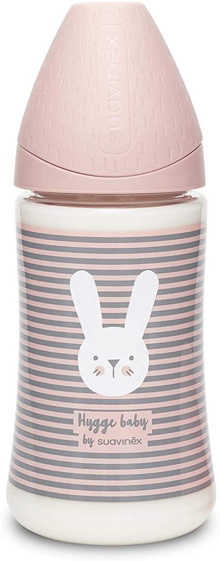 Biberon Hygge Baby Coniglio Righe Rosa - 3 Posizioni 270 ml