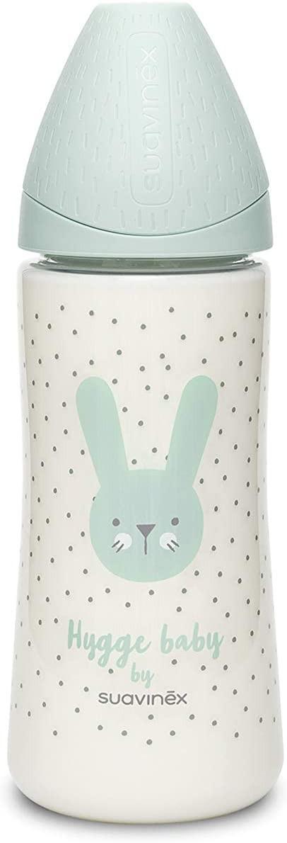 Flasche Hygge Baby - Größe M 360 ml Kaninchen Grün