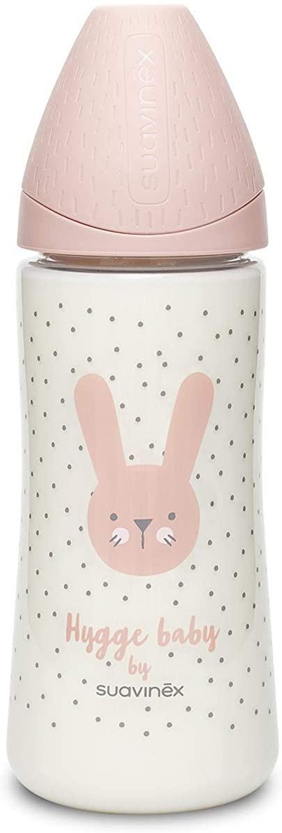 Flasche Hygge Baby - Größe M 360 ml Kaninchen Rosa