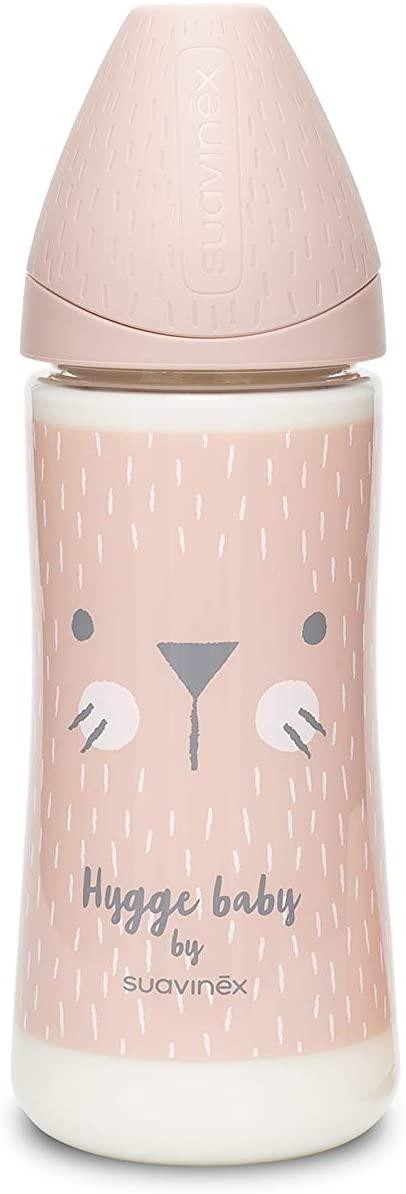 Biberon Hygge Baby Coniglio Rosa - Flusso Denso 360 ml