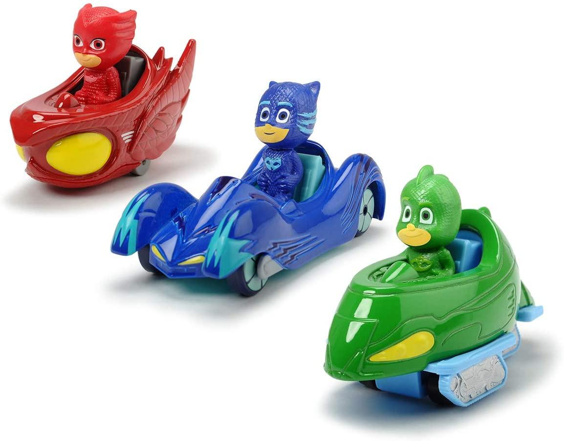 PJ Masks Set 3 Veicoli con Personaggio