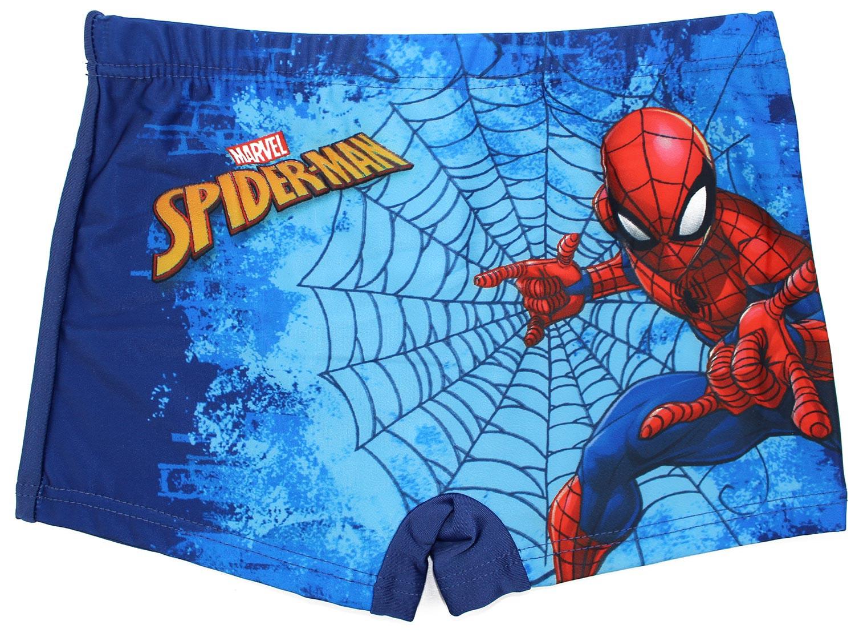 Costume Boxer Spiderman Blu - 5/6 Anni