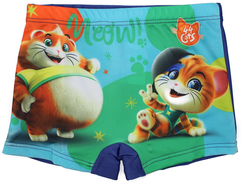 Costume Boxer 44 Gatti Blu - 4/5 Anni