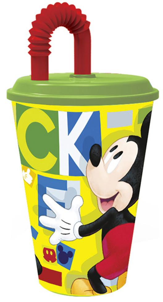 Bicchiere con Cannuccia Mickey
