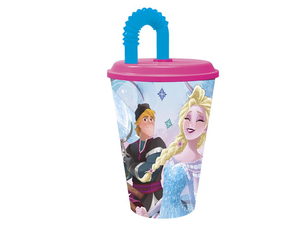 Bicchiere con Cannuccia Frozen