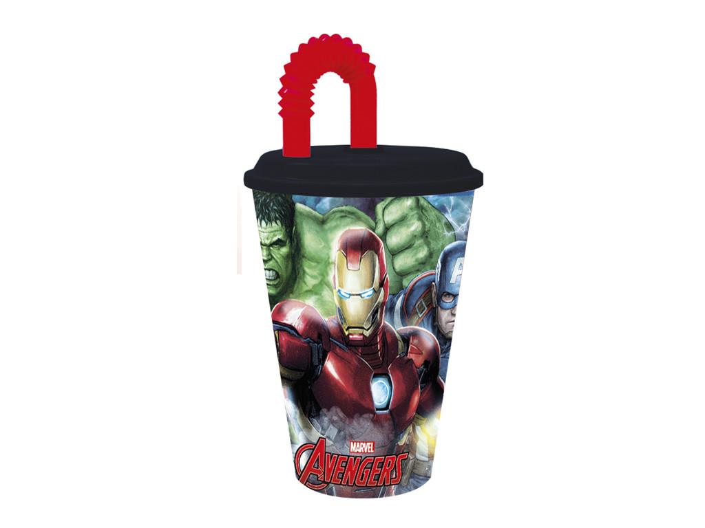 Bicchiere con Cannuccia Avengers