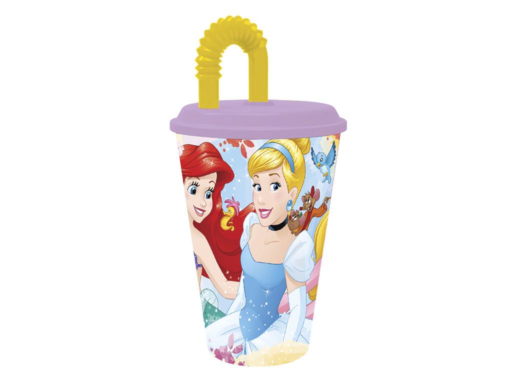Bicchiere con Cannuccia Disney Principesse