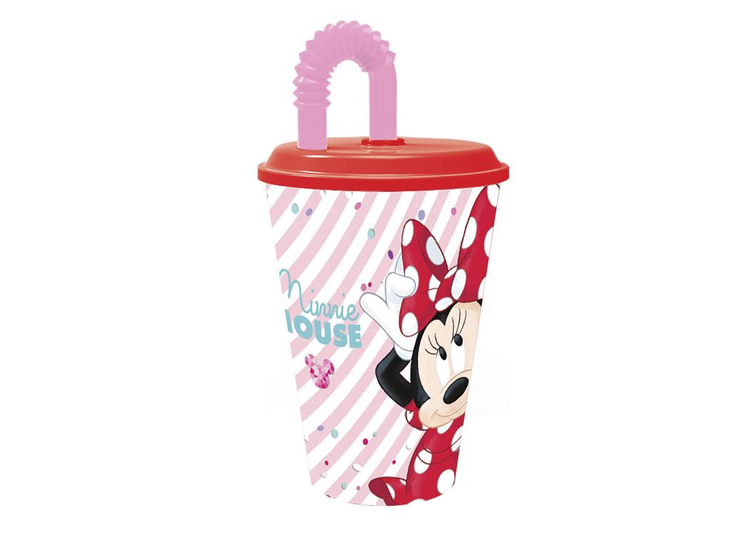 Bicchiere con Cannuccia Disney Minnie