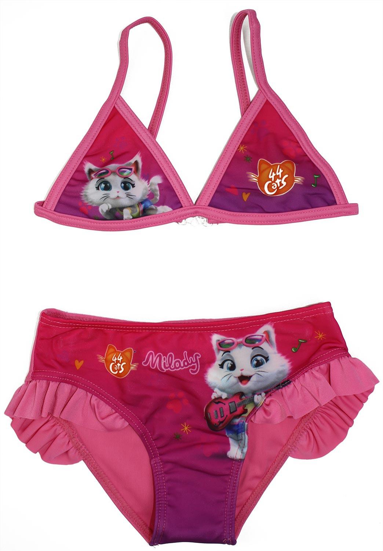 Costume Bikini 44 Gatti Rosa - 4/5 Anni