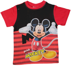 T-Shirt Mickey Mouse UV Rouge 2 Ans