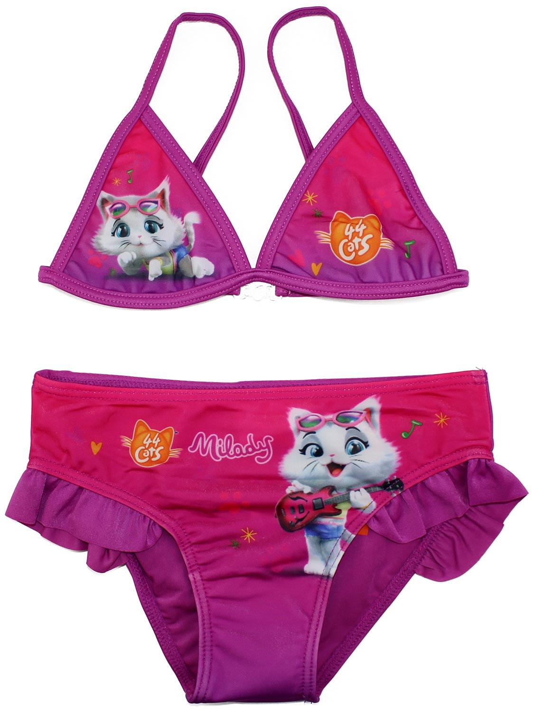 Costume Bikini 44 Gatti Fuxia - 4/5 Anni