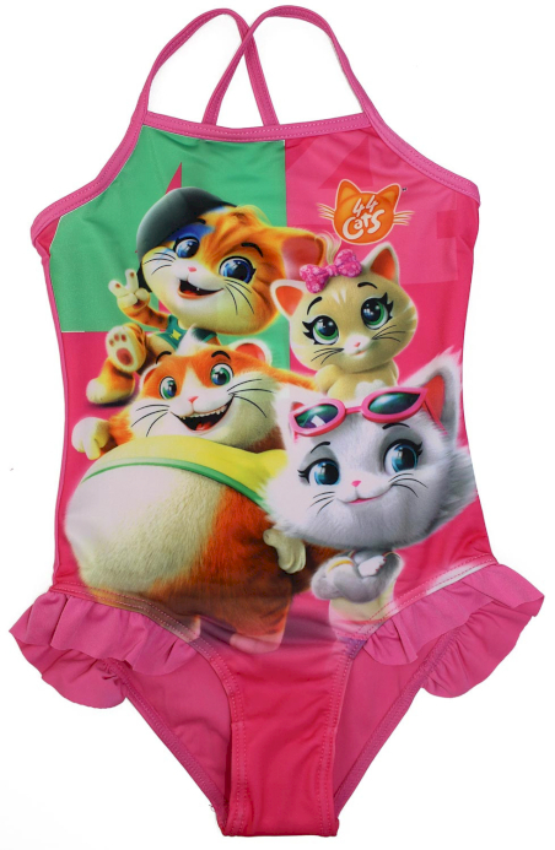 Costume Intero 44 Gatti Bambina - 5/6 Anni