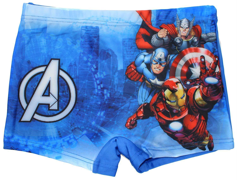Costume Boxer Avengers Blu - 5/6 Anni