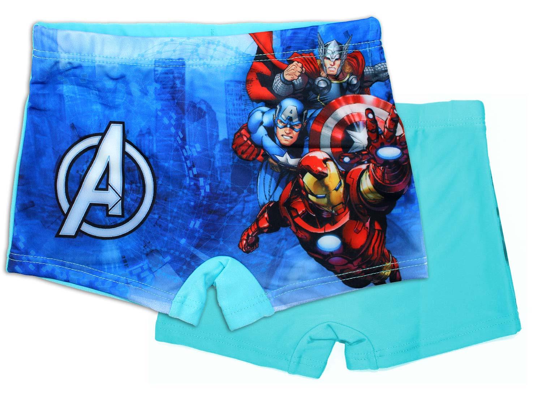 Costume Boxer Avengers Azzurro - 3/4 Anni