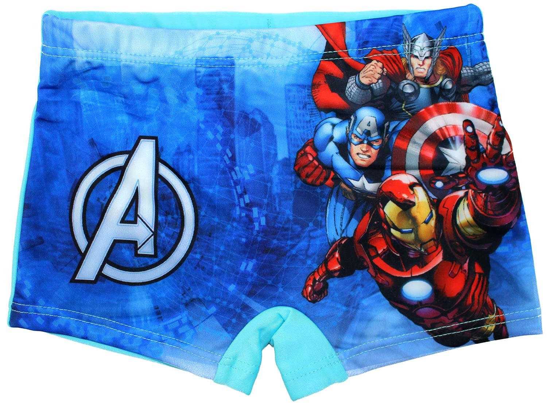 Costume Boxer Avengers Azzurro - 7/8 Anni