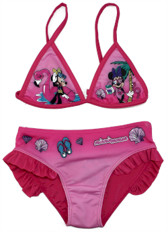 Costume Bikini Minnie - Rosa 5/6 Anni