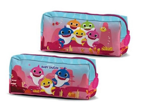 Trousse Scolaire Baby Shark Rose