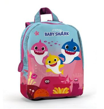 Sac à dos Scolaire Baby Shark Rose