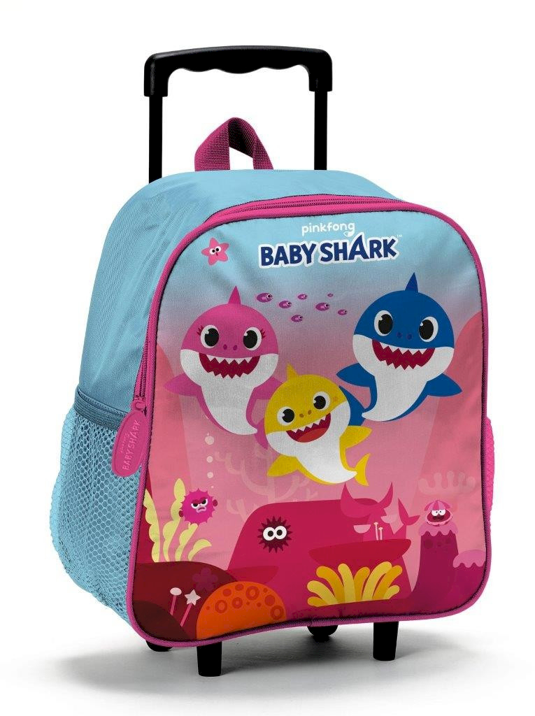 Valise Trolley Baby Shark Rose