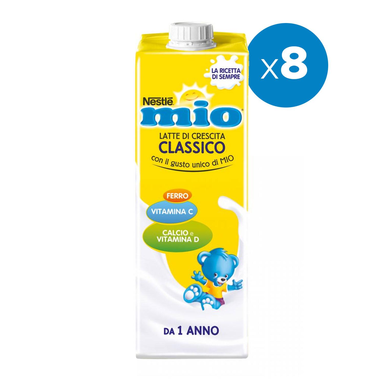 Latte Mio Crescita Classico - 8 Confezioni da 1 Lt