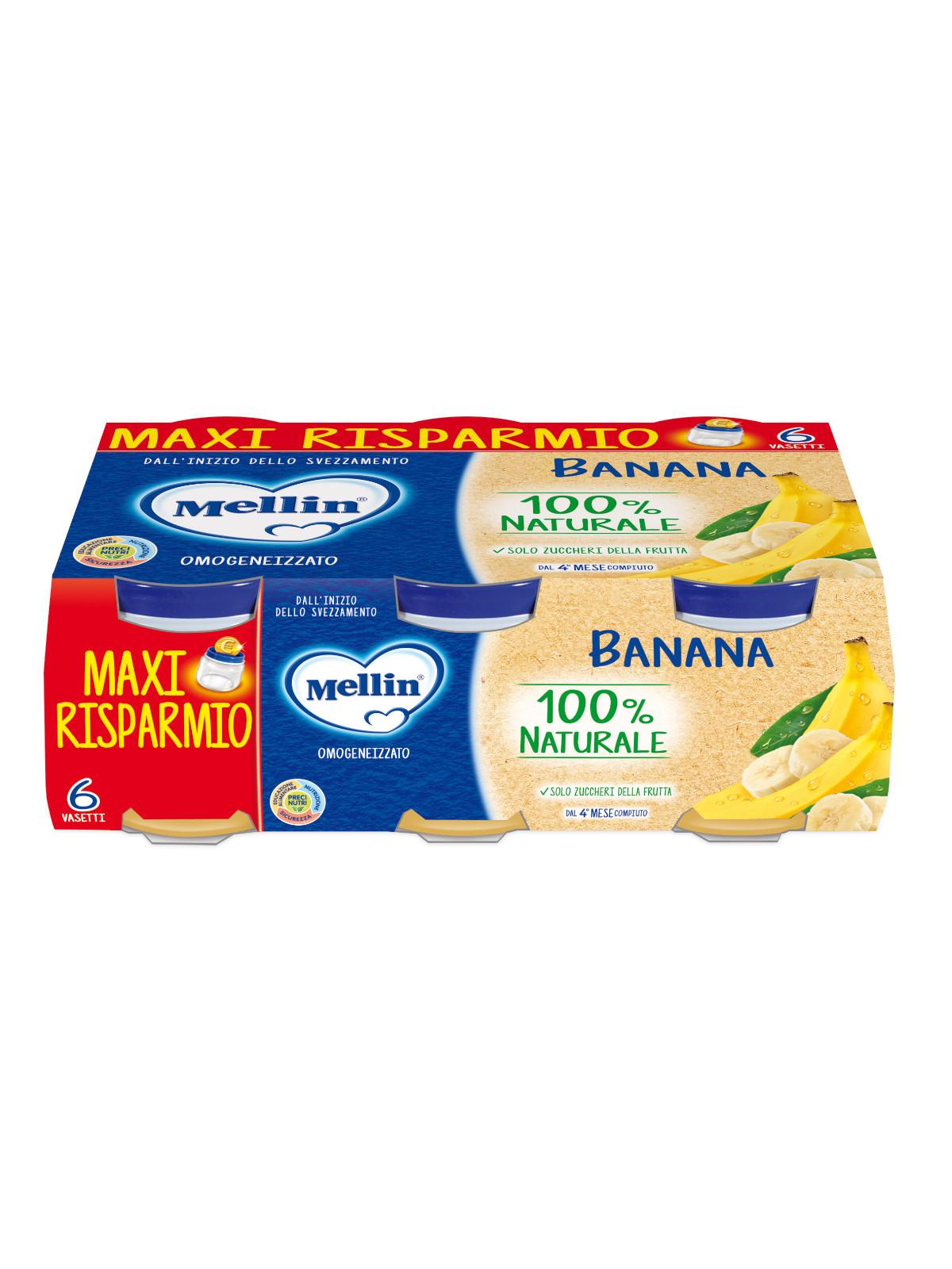 Omogeneizzato Banana Mellin - 6 x 100 g