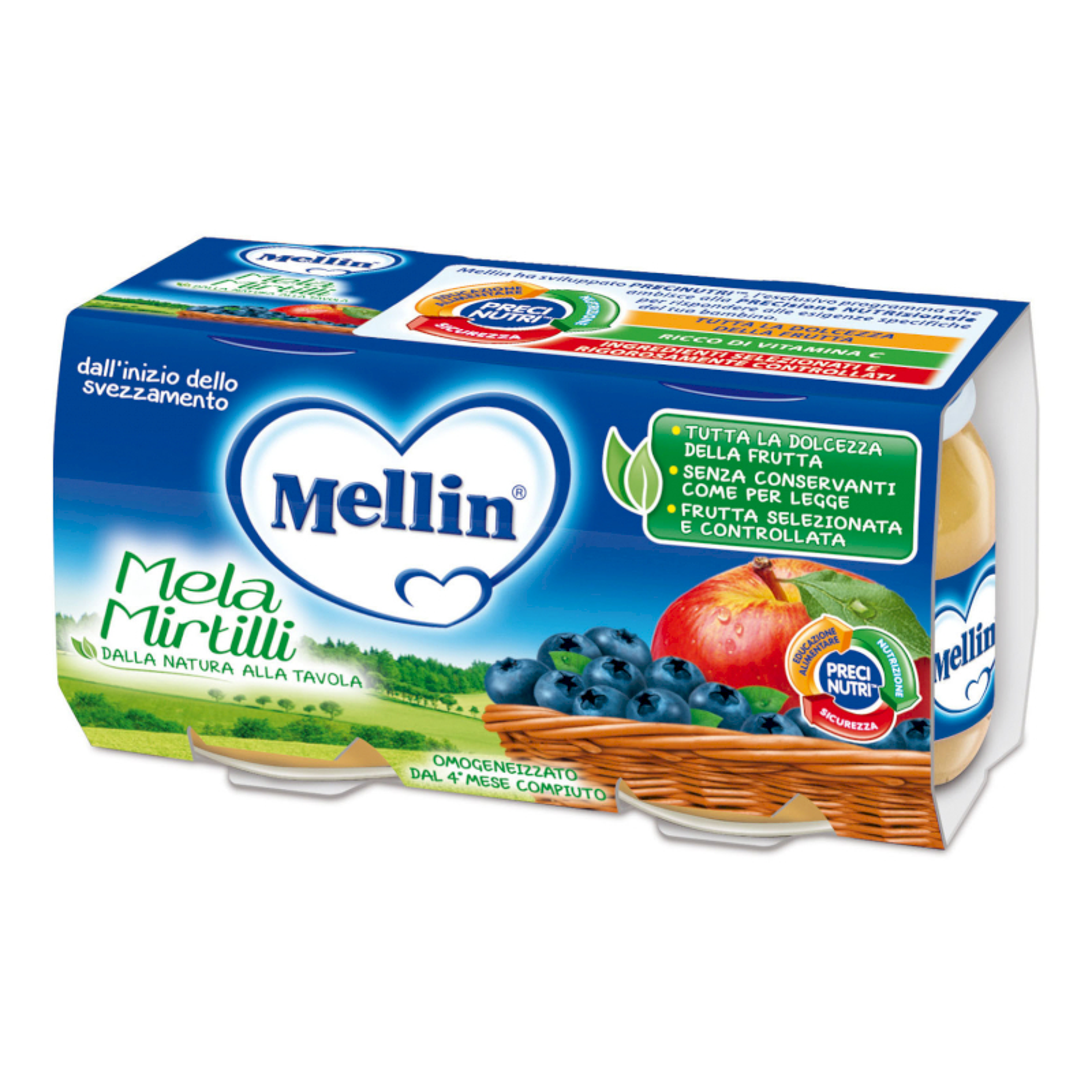 Omogeneizzato Mela Mirtilli Mellin