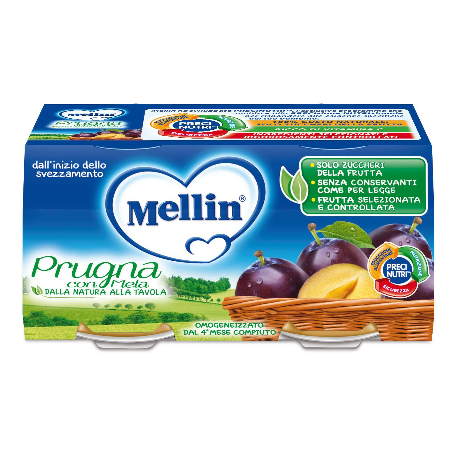 Omogeneizzato Prugna con Mela Mellin