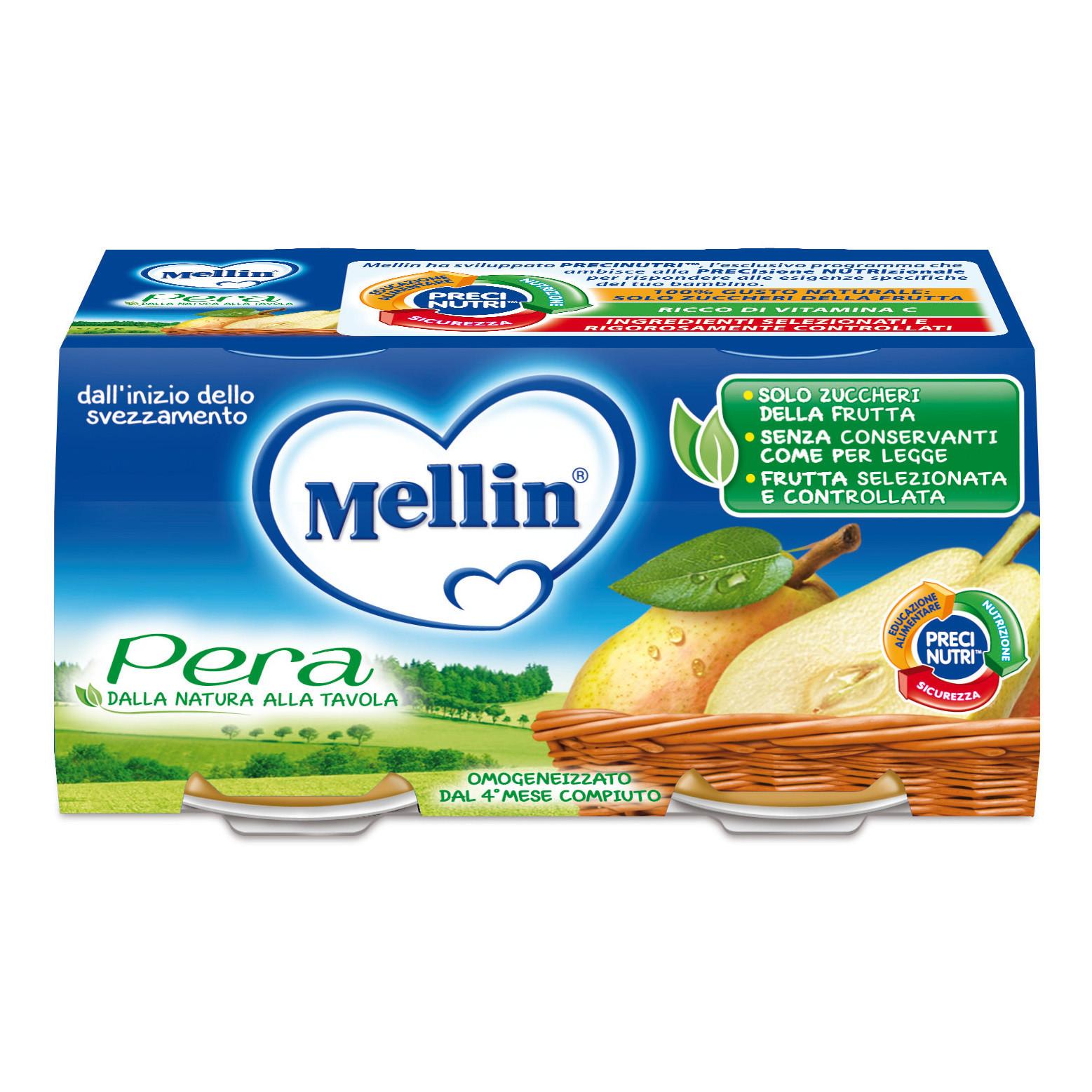 Omogeneizzato Pera Mellin - 2 x 100 g