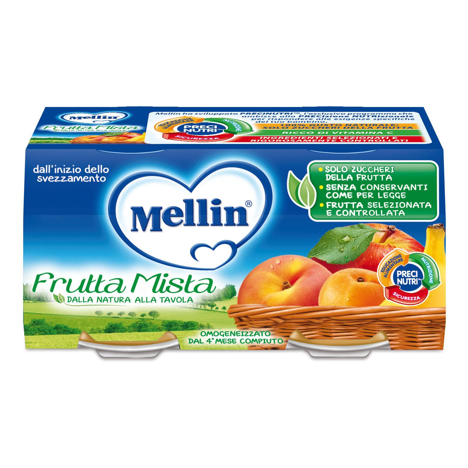 Omogeneizzato Frutta Mista Mellin - 2 x 100 g